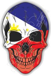 Philippines Skull 51 Decal Sticker