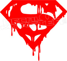Superman Drip Decal Sticker