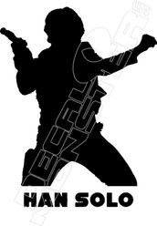 Han Solo 2 Decal Sticker