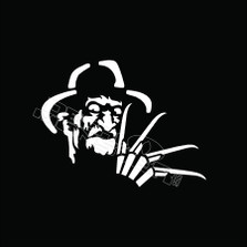 Freddy Kruger Horror Decal Sticker
