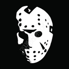 Jason Hockey Mask Horror Decal Sticker