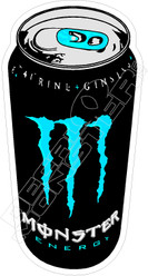 Monster Energy Can Blue Decal Sticker