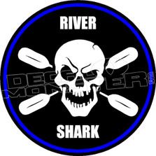 River Shark Decal Sticker