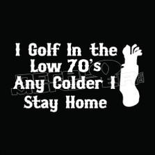 I Golf Low 70s Decal Sticker