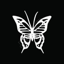 Butterfly Tribal 52 Decal Sticker