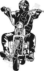Biker 51 Decal Sticker