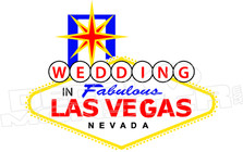 Las Vegas Wedding Decal Sticker