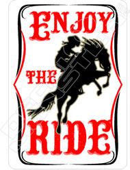 Enjoy the Ride Decal Sticker