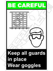 Be Careful - keep all guards in place wear goggles 2