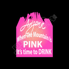 Arizona Mountain Pink Time To Drink