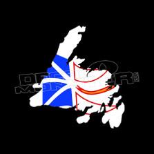 Newfoundland Flag On Outline