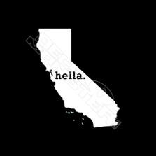 Hella California State Outline