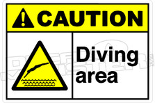 Caution 001H  - Diving area DM