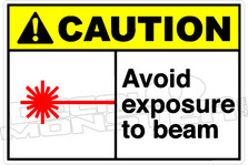 Caution 007H - Avoid exposure to beam