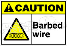 Caution 008H - Barbed wire 1