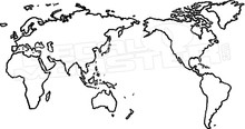 world map silhouette outline