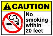 Caution 196H - no smoking within 20 feet