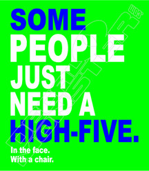 Highfive in the face