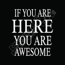 If you are here you are awesome