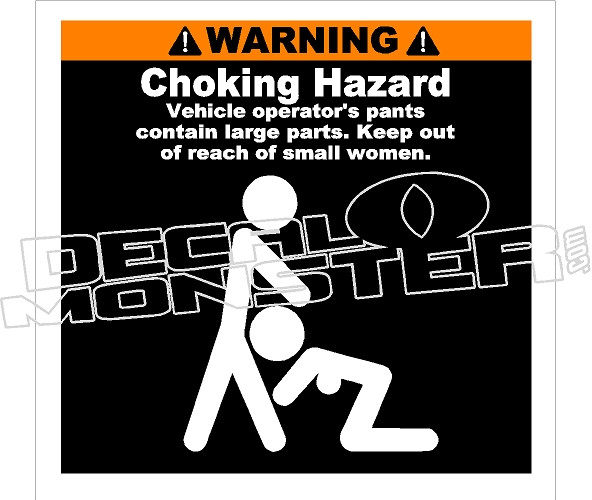 Best Price Custom Adhesive Choking Hazard Warning Labels: DecalMonster.com