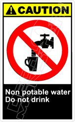 Caution 206V - non potable water do not drink
