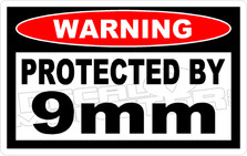 Warning 9mm - Funny Decal