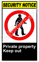 security 010V - private property keep out