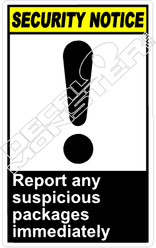 security 011V - report any suspicious packages immediately