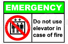 Emergency 007H - do not use elevator in case of fire