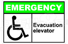 Emergency 016H - evacuation elevator