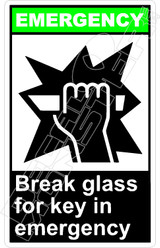 Emergency 005V - break glass for key in emergency