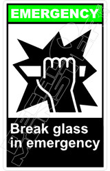 Emergency 006V - break glass in emergency