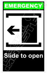 Emergency 048V - slide to open left
