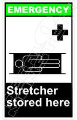 Emergency 050V - stretcher stored here