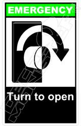 Emergency 053V - turn to open right