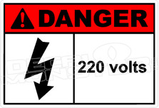 Danger 004H - 220 volts