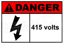 Danger 007H - 415 volts