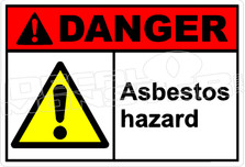 Danger 024H - asbestos hazard