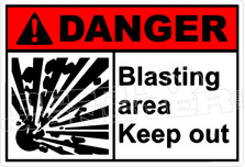 Danger 031H - blasting area keep out