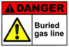 Danger 036H - buried gas line