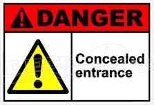 Danger 041H - concealed entrance