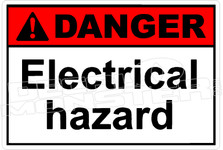 Danger 086H - electrical hazard