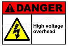 Danger 148H - high voltage overhead