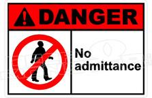 Danger 231H - no admittance