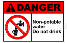 Danger 252H - non-potable water do not drink