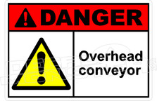 Danger 259H - overhead conveyor
