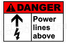 Danger 274H - power lines above
