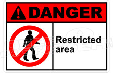 Danger 285H - restricted area
