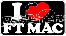 I Love Heart Strong Fort Mac McMurray 2016 Fire Decal Sticker