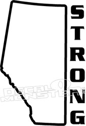 Alberta Strong3 Province Fort Mac McMurray 2016 Fire Decal Sticker